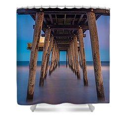 Under The Pier - Wide Version Shower Curtain
