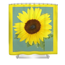 Under The Sunflower's Spell Shower Curtain by Patricia Keller