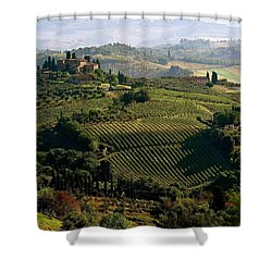 Under The Tuscan Sun Shower Curtain by Ira Shander