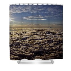 Shower Curtain featuring the photograph Undercast And Sun by Greg Reed