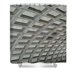 Underground. Washington Dc. Usa Shower Curtain by Ausra Huntington nee Paulauskaite