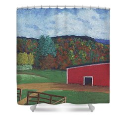 Undermountain Autumn Shower Curtain