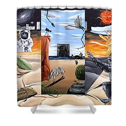 Shower Curtain featuring the digital art Understanding Everything Full by Ryan Demaree