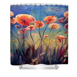 Underwater Ballet Shower Curtain by Art by Kar