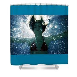 Underwater Self-portrait Shower Curtain