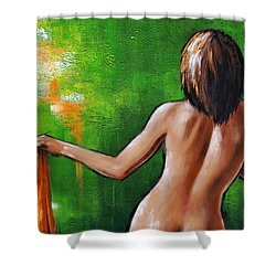 Undressed Shower Curtain