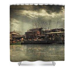 Une Belle Journee Shower Curtain by Taylan Apukovska