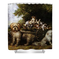 Une Tournee En Provence Shower Curtain by Leroy Jules