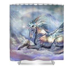 Unicorn Of Peace Shower Curtain
