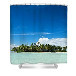 Uninhabited Island In The Pacific Shower Curtain