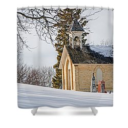 Union Cemetery Chapel Shower Curtain