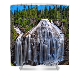 Shower Curtain featuring the photograph Union Falls by Greg Norrell