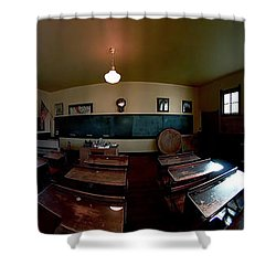Union  Illinois One Room School House Shower Curtain