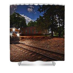 Union Pacific 7917 Train Shower Curtain by Linda Unger