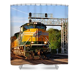 Union Pacific Chicago And North Western Heritage Unit Shower Curtain