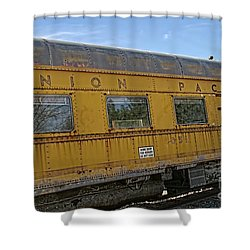 Union Pacific Shower Curtain by Peggy Hughes