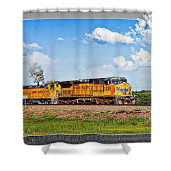 Union Pacific Railroad 2 Shower Curtain