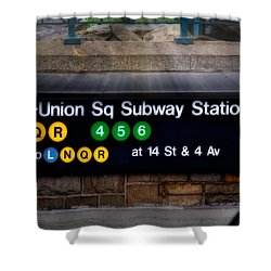 Union Square Subway Station Shower Curtain by Susan Candelario