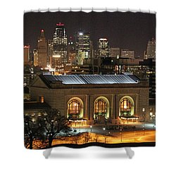 Union Station At Night Shower Curtain