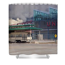 Union Station - Backside - Oil Painting Shower Curtain by Liane Wright
