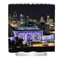 Union Station In Purple Shower Curtain