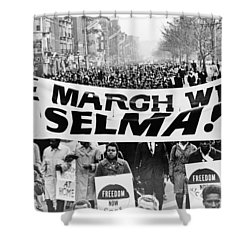 United For Justice Shower Curtain by Benjamin Yeager