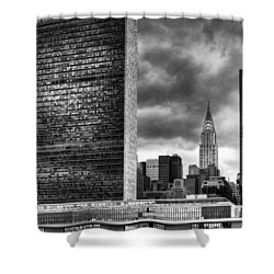 United Nations And Chrysler Building Shower Curtain