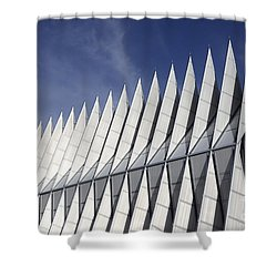 United States Airforce Academy Chapel Colorado Shower Curtain by Bob Christopher