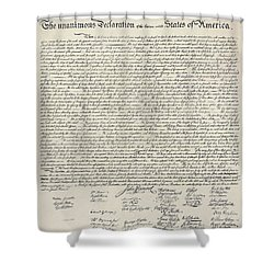United States Bill Of Rights Shower Curtain by Charles Beeler
