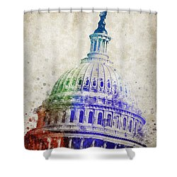 United States Capitol Dome Shower Curtain by Aged Pixel