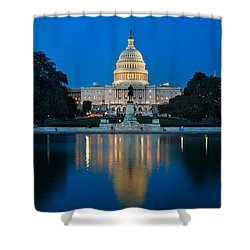 United States Capitol Shower Curtain by Steve Gadomski