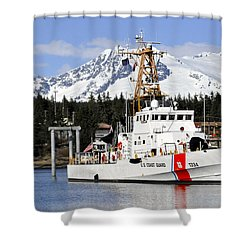 United States Coast Guard Cutter Liberty Shower Curtain by Cathy Mahnke