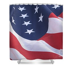 United States Flag  Shower Curtain by Chrisann Ellis