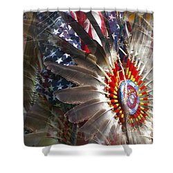 United We Stand Shower Curtain by Randy Pollard