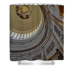 Unites States Capitol Rotunda Shower Curtain by Susan Candelario