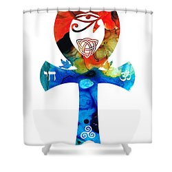 Unity 16 - Spiritual Artwork Shower Curtain by Sharon Cummings