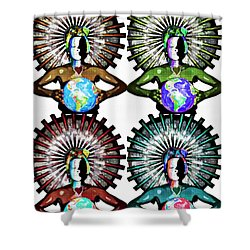 Unity-love-peace In This World Shower Curtain