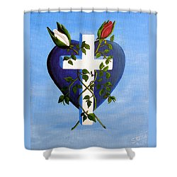 Unity Shower Curtain by Sheri Keith