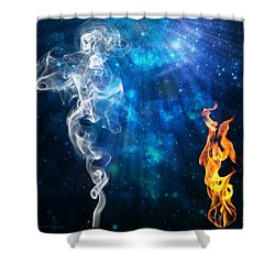 Universal Energies At War Shower Curtain