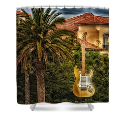 Universal Guitar Shower Curtain
