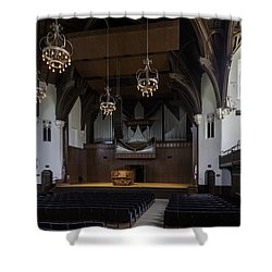University Auditorium And The Anderson Memorial Organ Shower Curtain by Lynn Palmer