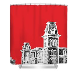 University Of Arkansas - Red Shower Curtain