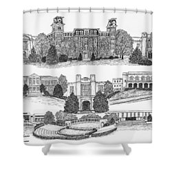 University Of Arkansas Fayetteville Shower Curtain