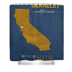University Of California At Berkeley Golden Bears College Town State Map Poster Series No 024 Shower Curtain by Design Turnpike