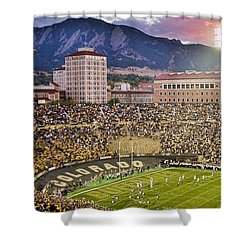 University Of Colorado Boulder Go Buffs Shower Curtain