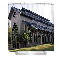 University Of Florida Chapel On Lake Alice Shower Curtain by Lynn Palmer