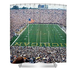 University Of Michigan Football Game Shower Curtain by Panoramic Images