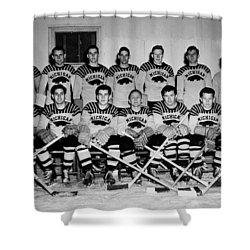 University Of Michigan Hockey Team 1947 Shower Curtain