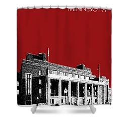 University Of Minnesota - Coffman Union - Dark Red Shower Curtain