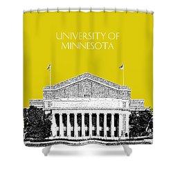 University Of Minnesota 2 - Northrop Auditorium - Mustard Yellow Shower Curtain